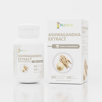 Nutriliva Natural Ashwagandha m4gWithania Somniferam5g Root Extract – Immunity m10g Wellnessm35g Sexual Health m10g Stress Managementm35g Vegetarian Capsules – 30 Day Supply m4gPack of 60m5g