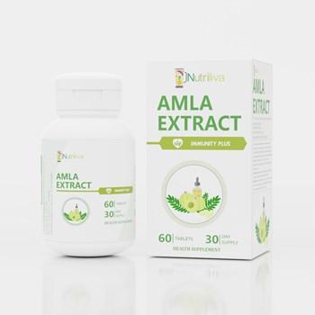 Nutriliva Immunity Enhancer Plus – Amla Extract m4gEmblica Officinalism5g m4gNatural Vitamin C m7g Enriched Minerals Zincm35g Ironm35g Calciumm5g – Vegetarian Tablets – 1000mg – 30 Day Supply m4gPack of 60m5g