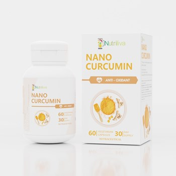 Nutriliva Nano Curcumin m4gNano Tech Release of Curcuminoidsm5g – For Strong Immunity m10g Bone m10g Joint Pain – 500 mg – Vegetarian Capsules – 30 Day Supply m4gPack of 60m5g