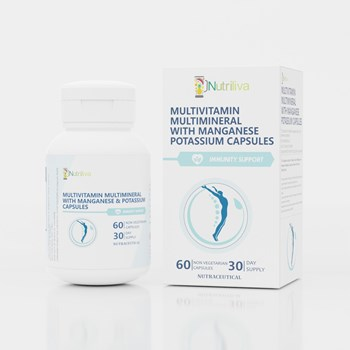 Nutriliva General Health m10g Immunity Support – All Essential Vitamins m10g Minerals m10g Ginseng Extract – Improves Endurancem35g Tolerance m10g Strength in Stress – Capsules – 30 Day Supply m4gPack of 60m5g